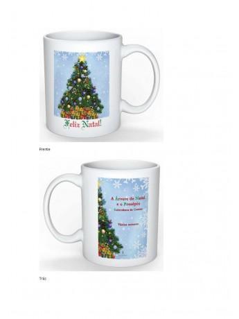 Caneca A Árvore de Natal e o Presépio