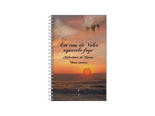 Caderno Em tons de Valsa aguarela-fogo