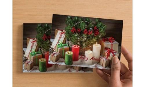 Postal Um cheirinho a Natal